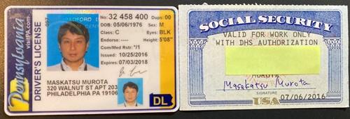 アメリカの免許証とSSN