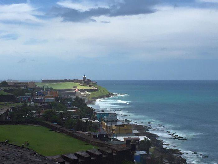 城壁から見えるカリブ海2