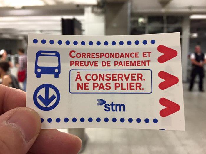 ダウンタウンの地下鉄のチケット